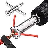 Herramienta de torsión de alambre, herramientas de torsión de cables eléctricos, herramienta de pelado de alambre y torsión, para uso con taladros eléctricos, accesorios de herramientas eléctricas
