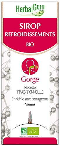Herbalgem - Sirop Refroidissement - Apaise la Gorge Irritée et Calme les Voies Respiratoires - 250 ml
