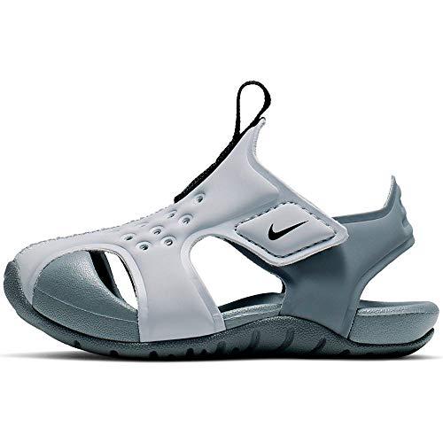 Nike Jungen Unisex Kinder Sunray Protect 2 (TD) Slide Sandal, Wolf Grey/Black-Cool Grey, 23.5 EU