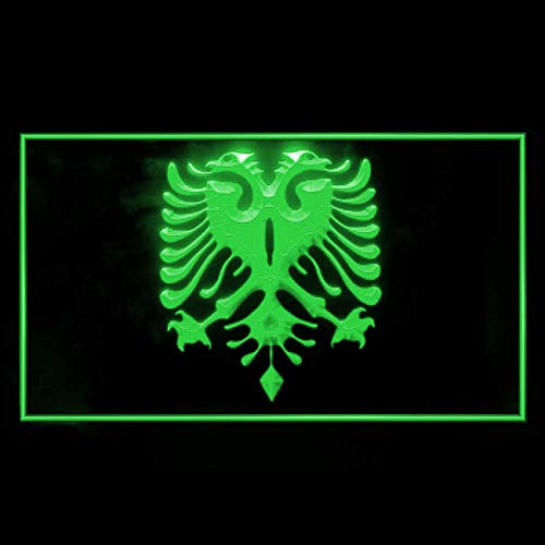 230107 Albanian Eagle Flag Modern Tattoos Design Display LED Light Sign