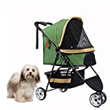 XLY No-Zip Special 3 Wheel Pet Stroller for Cats/Dogs, Zipperless Entry, Easy One-H