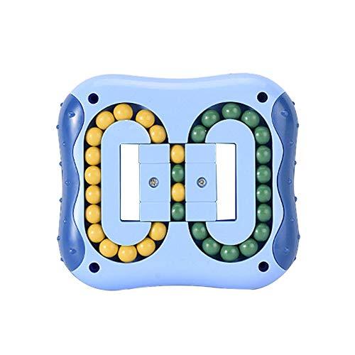 flouris Magic Cube Frijol Toys Alivia Juguetes Estrés para Ansiedad, Rompecabezas Mágicos Rotación Cuadrada Rompecabezas Cubo Que Gira Magia Spinning Top, Juguete Educativo para Niños Adulto
