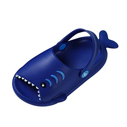 Padaleks Unisex-Child Kids' House Slippers Cute Cartoon Beach Shoes Shower Sandal for Toddler Little Girls Boys Purple