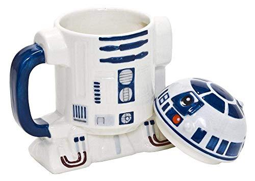 Star Wars Star185 - R2D2 3D Keramiktasse mit Deckel 14x12 cm