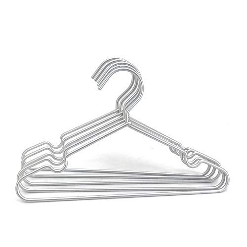 Koobay 30Pack 16.5' Silver Aluminum Laundry Wire Clothes Shirt Coat Suit Hangers with PVC-Coated and Notches