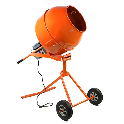 Stark Portable 5 cu Ft Electric Concrete Cement Mixer Machine Freestanding 1/2 HP Mixing Concrete with Wheel