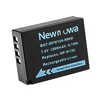 Newmowa NP-W126 バッテリー 1個 対応機種 Fujifilm NP-W126 NP-W126S Fujifilm X-H1 Fuji FinePix HS30EXR HS33EXR HS50EXR X-A1 X-A3 X-E1 X-E2 X-E3 X-M1 X-Pro1 X-Pro2 X-T1 X-T2 X-T3 X-T10 X-T100