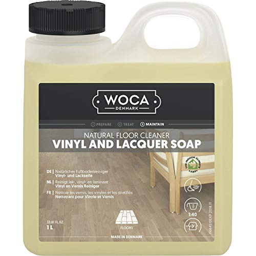 WOCA Vinyl- und Lackseife 1 Liter | Reinigung von Vinyl, Laminat und lackierten Parket-Böden