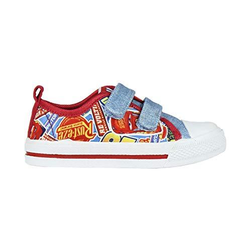 Cerdá Jungen Zapatilla Loneta Baja Cars 3 Hohe Sneaker, Blau (Azul C37), 25 EU