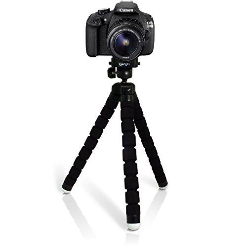 iGadgitz U4884 Leggero Large Flessibile Gommapiuma Mini Treppiede Compatibile con Canon EOS SLR DSLR Series Fotocamere - Nero