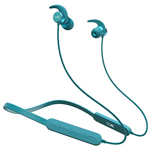 boAt Rockerz 255 Pro Wireless Headset with ASAP Charge Technology, Bluetooth V5.0, Qualcomm Chipset, Super Extra Bass, IPX5 Sweat and Water Resistance and Up to 6H Playtime (Teal Green)
