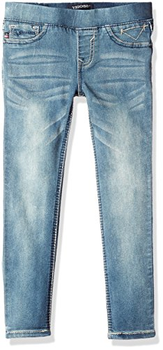 Vigoss Girls' Girls' 5 Pocket Classic Pull on Skinny Jean, Memory, 10