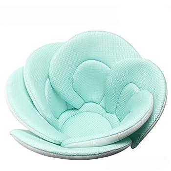 Baby Bath Cushion Sink Bather Soft Quick Drying Bathtub Mat for Infant Bathing Tub Seat Support,Machine Washable,6-Petal Flower