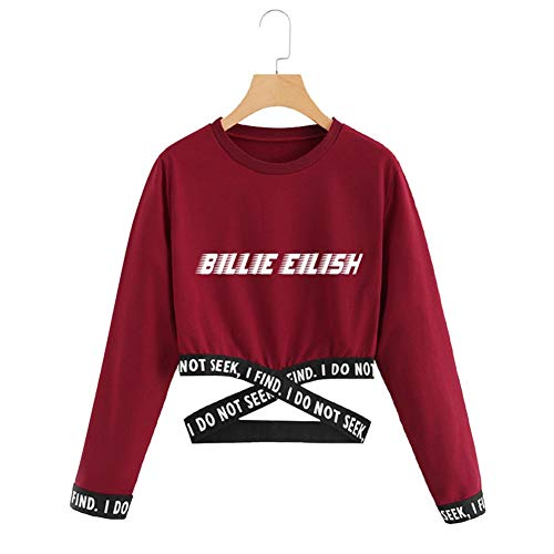DJ002 Sport Sweatshirt Billie Eilish Sweatshirt, Mädchen Sweatshirt, Mode Sweatshirt, Bedrucktes Sweatshirt (Color : #9, Size : S)
