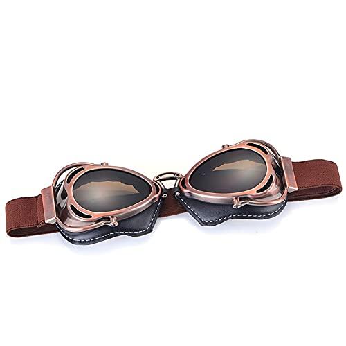 Gafas Moto,Moto Gafas Casco de motocicleta Gafas Volando Gafas Vintage Piloto Biker Gafas Gafas Gafas Motocross (Color : Model 10)