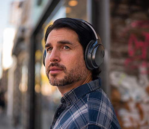 【2019年APT-X&Bluetooth5.0進化版】COWINSE7ワイヤレスノイズキャンセリングBluetoothヘッドホンaptX密閉型高音質内蔵マイク30時間再生ハンズフリー通話可能iphonePCMacなどに対応ヘッドフォン(ブラック)