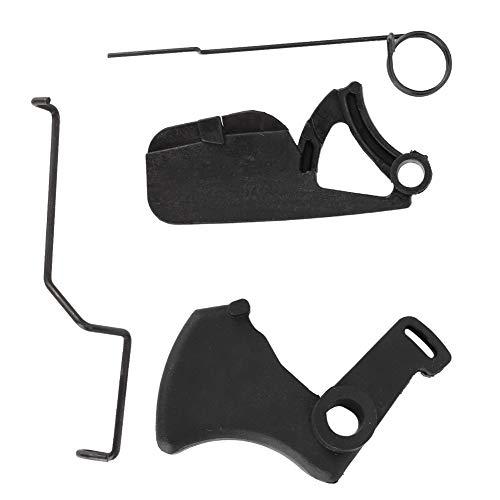 Palanca de gatillo hidráulico, palanca de resorte de activación hidráulica del acelerador para motosierras MS180 018 MS170 017 Negro