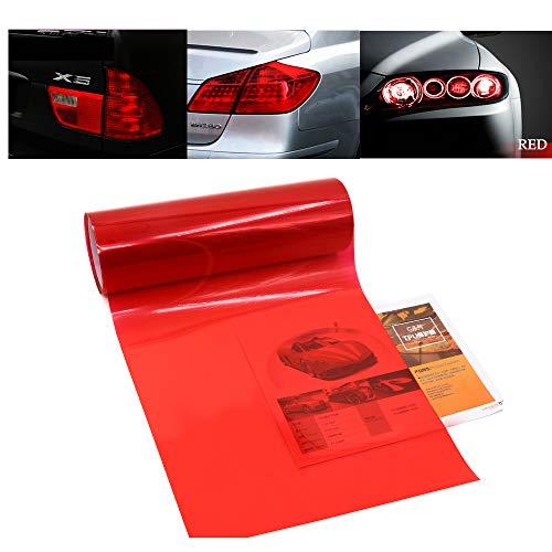 Auto Licht Tönung Film Scheinwerfer Nebelscheinwerfer Rücklicht Rot Abgetönten Vinyl Schwanz Farbe Aufkleber Selbstklebende Glänzende Chamäleon Zubehör Teile 120 cm x 30 cm 2 stücke (Rot)