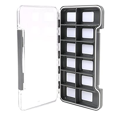 M MAXIMUMCATCH Maxcatch Super Slim Magnetic Back Waterproof Fly Fishing Box: 6, 12, or 18 Compartments