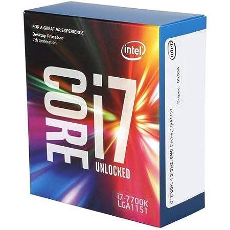 Intel Core i7-7700K 4.2GHz 8MBNew Retail, BX80677I77700KNew Retail Smart Cache Box