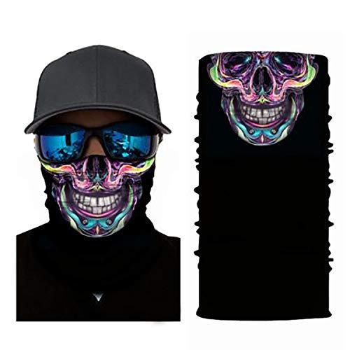 4Clean 3D - Sciarpa tubolare lavabile con motivo I Maschera per il viso con protezione UV I Fascia multifunzione per moto e ciclismo I tuoi paradenti con motivo (foulard da uomo/donna) (S12)