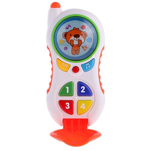 MagiDeal Jouet Musical Téléphone électronique Jeux éducatif d'apprentissage Semblant Cadeau pour Bébé Enfant - #2