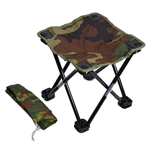 HYLH Camping Wandern Strand Tragbare Angeln Stuhl Camouflage Klappstuhl Freizeit Angelausrüstung