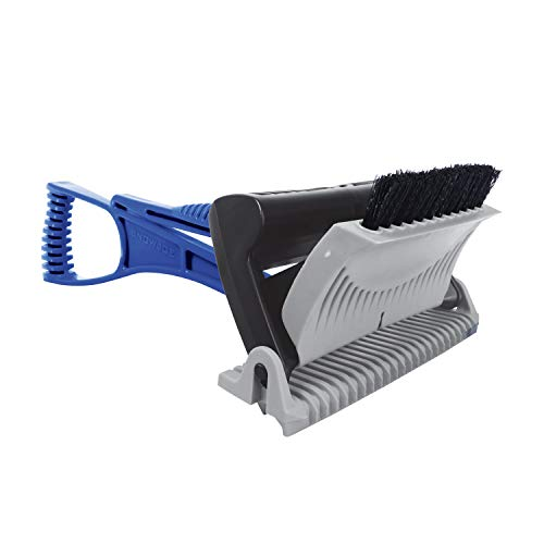 Snow Joe SJEG-DZ-PRO Ice Dozer Ice and Snow Scraper w/Ice Breaking Teeth & Bristle Brush Attachment