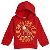 Curious George Toddler Boys Fleece Pullover Hoodie Red 4T
