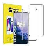 Moglor Vetro Temperato OnePlus 7 Pro Pellicola Protettiva (2 Pezzi) Glass Screen Protector Copertura Completa, HD Trasparenza, Durezza 9H