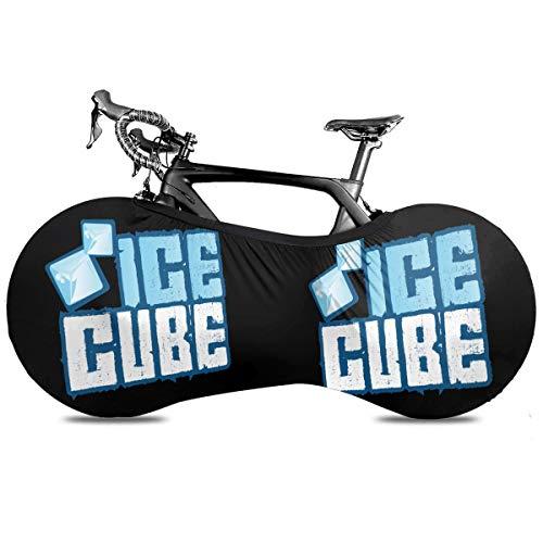 N / A Ice Cube Fahrradabdeckung Im Freien Selbstsichere wasserdichte Autoabdeckung Fahrradstaubabdeckung