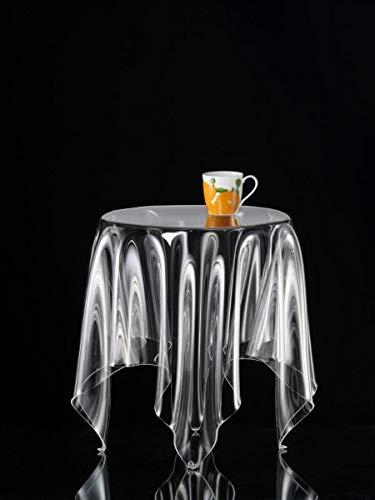 Essey Beistelltisch, Couchtisch, Grand Illusion, Acryl, Höhe 52 cm, Ø 42 cm, transparent