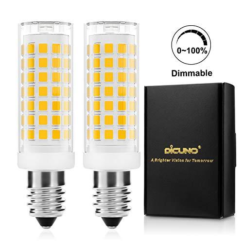 DiCUNO E14 LED-lamp 4W, Vervanging voor 40W halogeenlampe, Dimbaar, 430 Lumen, Warm wit 3000K, 220-240V, Energiebesparing, E14 LED maïs, Keukenverlichting/Wandlamp/Tafellamp, 2 Stuks