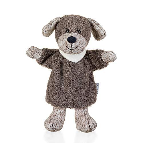 Sterntaler 3622061 Handpuppe Hund Hanno, Ideal für Puppentheater und Rollenspiele, 25 x 21 x 8 cm, Grau