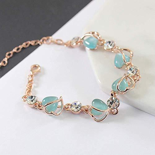 Mode sfeer diamant smaragdgroene armband, godin maansteen liefde armband getij armband