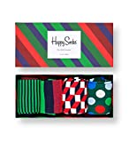 Happy Socks, Colorful Premium Cotton Holiday Socks for Men and Women