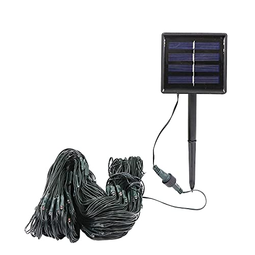Inner 3 X 2m Solar Outdoor Net Lights - Waterproof Garden Lights, On/Off Curtain String Lights, Icicle Lights for Wedding Party Yard Wall Decor (Warm White) [Energy Class A++]