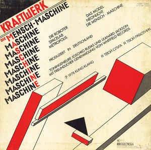 """KRAFTWERK / DIE MENSCHEN-MASCHINE / 1978 / Bildhülle mit illustrierter Innenhülle / EMI # 1C 058-32 843 / 05832843 / Deutsche Pressung / 12"""" Vinyl Langspiel-Schallplatte - 2"""