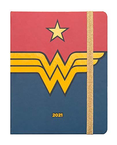 Agenda Settimanale 2021 Wonder Woman, ideale per la scuola, lavoro e tempo libero, 17 mesi, 16x20 cm