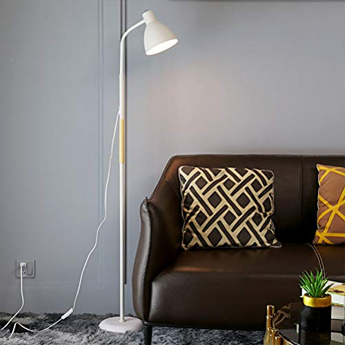 Retro Floor Lights E27 Vintage Industrial Design Floor Lamp made of Metal and Wood Reading Light Rustic Stand Light Minimalism Reading Lamp, for Living Room Sofa Bedroom Office Study Enlightenment