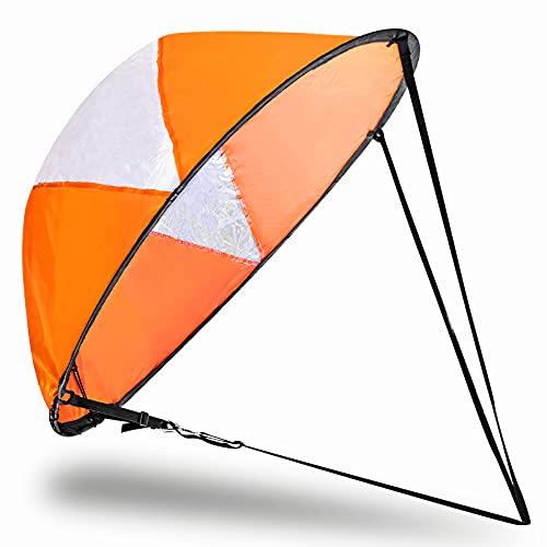 Veritovita 42 inches Downwind Wind Sail Kit Kayak Wind Sail Kayak Paddle Board...