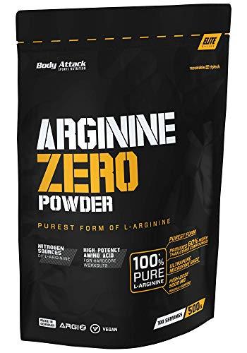 Body Attack 100% L-Arginine - vegan - Arginine Zero - hochdosiert - 500g