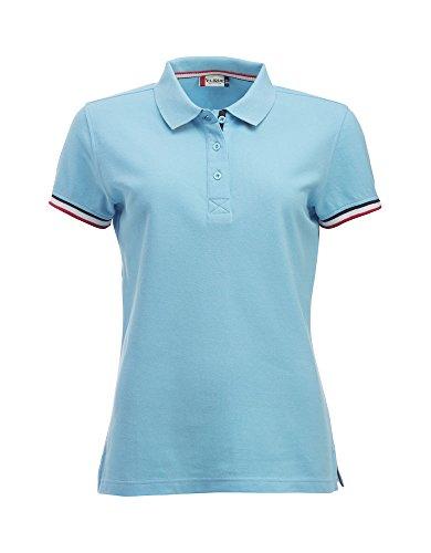 Smartsupershop Polo con Profili Donna Colore Azzurro Taglia XL