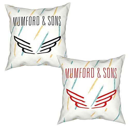 GAGADUCK Mumford and Sons Throw Pillow Covers Decorative Cotton Linen Square Outdoor Cushion Cover Sofa Home Pillow Covers Set of Two
