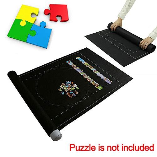 ONEVER Puzzle Borsa da Viaggio, Tappeto Puzzle Set Arrotolato Feltro, Tappeto Fino a 1500 Pezzi Accessorio Puzzle Puzzle