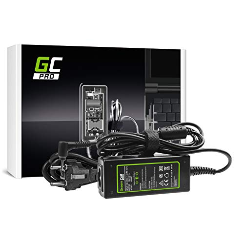 GC Pro Cargador para Portátil ASUS EEE PC 1001P 1005H 1005P 1008P 1011B 1011C Ordenador Adaptador de Corriente (19V 2.1A 40W)