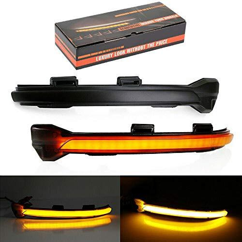 Ein Paar Dynamisch spiegeln Blinker LED Leuchtanzeige für Golf 5/7 MK7 GTI R GTE GTD mit Black Shell