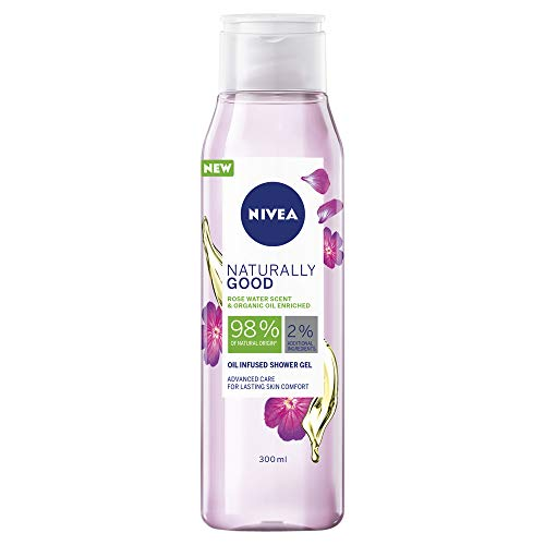 NIVEA Naturally Good Shower Gel & Body Wash, Scented with Enriched with Organic Oils 300ml 300ml