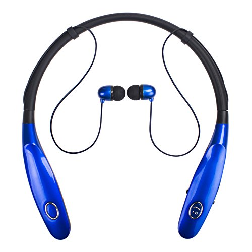 Bluetooth Headphones 14Hr Working Time, Truck Driver Bluetooth Headset, Wireless Magnetic Neckband Earphones, V4.2 Noise Cancelling Earbuds w/Mic, Compatible with Any Bluetooth Equitments (Black)