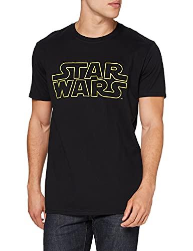 Star Wars Basic Logo Camiseta, Negro, XL...